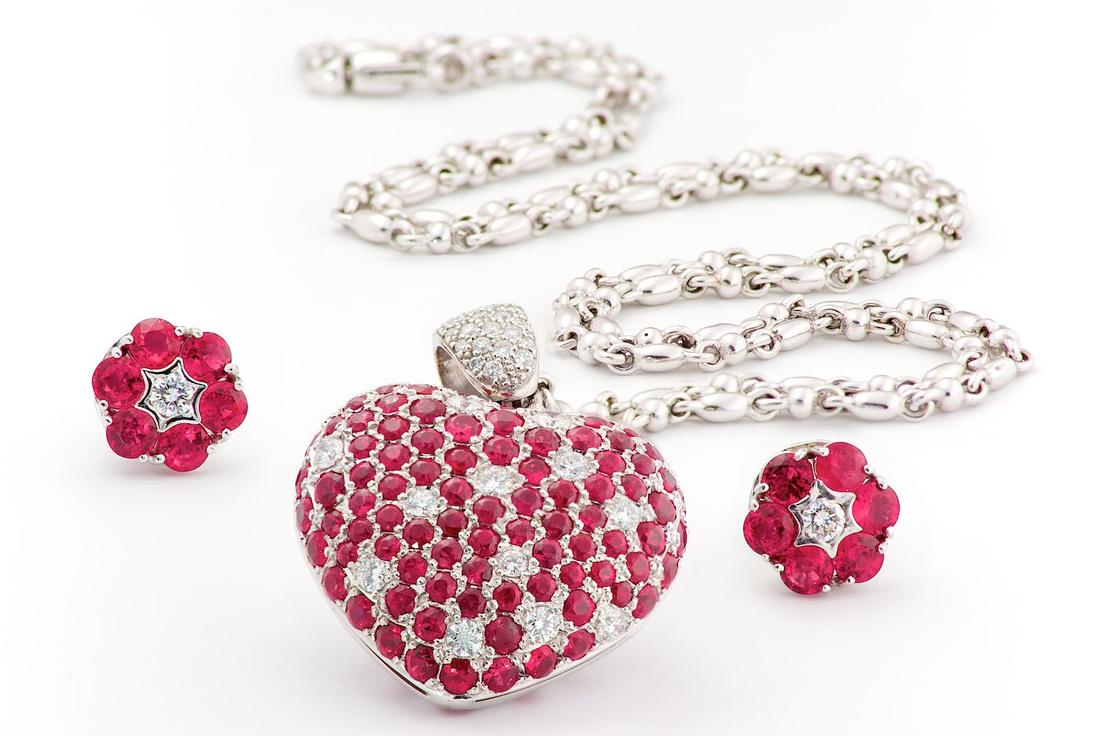 Ruby and Diamond Pendant - Jewelery Photos