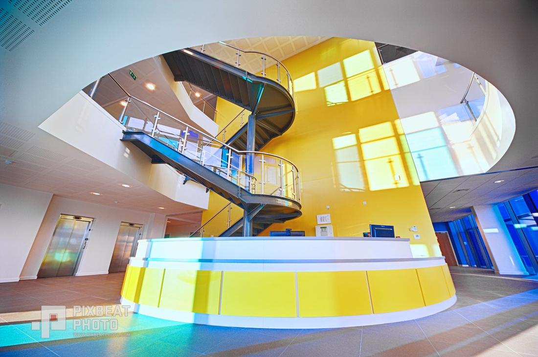 ABAX Moy's End Stand Atrium Reception Interior.